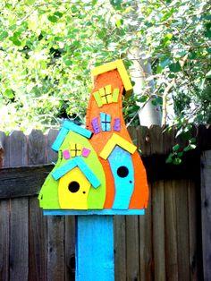 Whimsical birdhouse. So cute. mrp