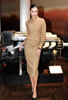 Adriana Lima just taught us all how to make a naked dress winter-appropriate. Click for her tips and information on this gorgeous wool MaxMara dress.