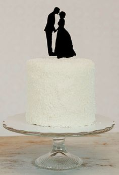 Brides: Unique Wedding Cake Toppers :  Custom silhouette cake toppers, $50, Simply Silhouettes