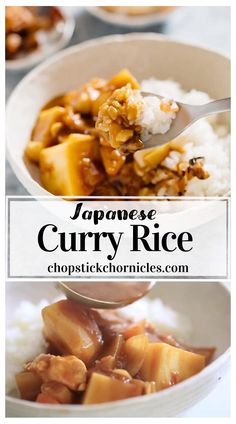 Japanese Food Dishes, Healthy Japanese Recipes, Asian Recipes, Japanese Chicken Curry, Japanese Curry, Curry Rice, Curry Food, Food Videos, Food To Make