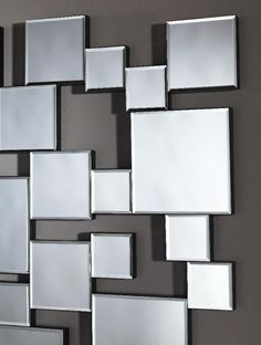 Large Frameless Wall Mirrors | Pixels Frameless Bevelled Wall Mirror by Deknudt Mirrors - £357.00 ...