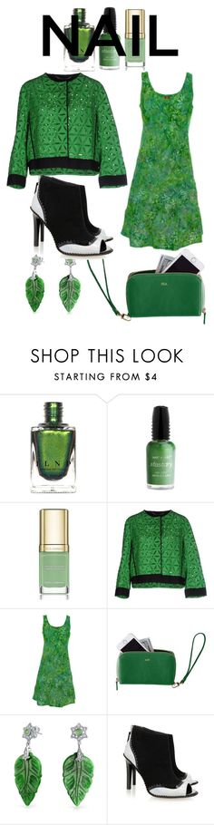 """""""The Greentea Look"""" by ulmrwd ❤ liked on Polyvore featuring Wet n Wild, Dolce&Gabbana, Les Copains, Ojai Clothing, Mark & Graham, Bling Jewelry and Kat Maconie"""