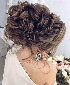 wedding hairstyle + braids + bun / #hairstyles #beauty