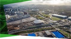 Aerial view of Queen Elizabeth Olympic Park