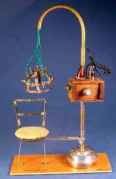 There is a full size model located at the Museum of Questionable Medical Devices. Haunted Dollhouse, Dollhouse Miniatures, Pottery Games, Mad Scientist Lab, Halloween Shadow Box, Medical Devices, Witch House, Fireplace Accessories, Barbie Accessories