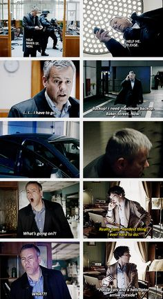 Gavin was so scared of losing Sherlock again he freaked out // This is actually really sweet.