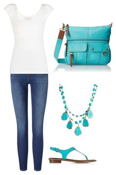 """Untitled #40"" by bussmay on Polyvore featuring Frame Denim, BCBGMAXAZRIA, Michael Kors, FOSSIL and Rachel Reinhardt"