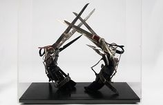 Original Scissor Hands worn by Johnny Depp in Tim Burton's Edward Scissorhands