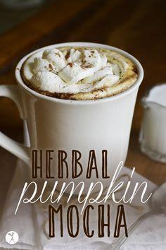 Herbal Pumpkin Mocha // deliciousobsessions.com // #pumpkin #herbalcoffee #glutenfree #dairyfree #grainfree #pumpkineverything #mocha #coffee