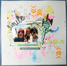 El scrap de Barma: Layout - Smile