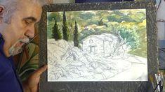 ΣχεδιαΖΩγραφίζω τον Άγιο Θαλαλαίο/ Painting an old chapel Saint Thalalaeos Watercolors, Watercolor Paintings, Tv, Water Colors, Television Set, Watercolour Paintings, Watercolor, Watercolor Art, Television
