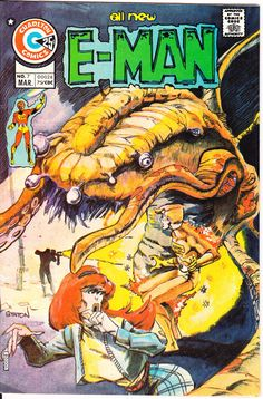 E-Man 7 Charlton Comics 1ST First Ed 1975 Joe Staton Aliens Outer Space John Byrne NM- by LifeofComics #comicbook #scifi
