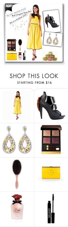 """""""Sport a stylish laid-back look with this pretty @anastasiiaivanovaofficial dress. Style it with @PringParis shoes, @CataleyaLondon clutch & @TheCaratRoom earrings. #ShopAtMayfair"""" by atmayfair ❤ liked on Polyvore featuring Tom Ford, Dolce&Gabbana and Lord & Berry"""