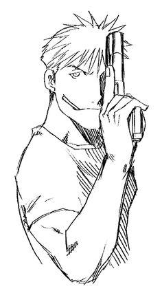 Jean Havoc - image from FMA 鋼の錬金術師 Fullmetal Alchemist, Fulmetal Alchemist, Me Me Me Anime, Anime Guys, Manga Anime, Hiromu Arakawa, Animes On, Alphonse Elric, Edward Elric
