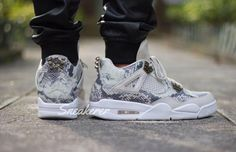 On-Feet Images Of The Air Jordan 4 PRM Snakeskin • KicksOnFire.com
