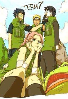 New team 7 -Sasuke: *You're in my spot…………../Sai:……………