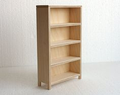 1/6 bookcase for dolls - momoko blythe barbie size furniture by minimagine - bookshelf in 1:6 scale