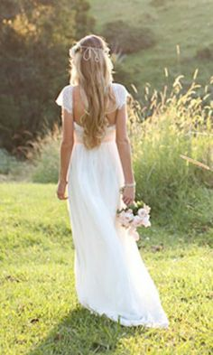 Stunning lace boho wedding dress from Grace Loves Lace