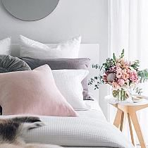A pretty white, pink and pale grey palette for a feminine bedroom - Bedroom Design Ideas Dream Bedroom, Home Bedroom, Girls Bedroom, Master Bedroom, Bedroom Decor, Bedroom Ideas, Summer Bedroom, Design Bedroom, Grey Bedrooms