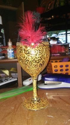 Decor wine glass;Gatsby inspired
