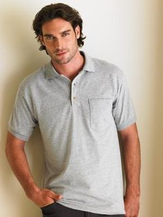 Gildan Dry Blend Polo for Men Spring 2014 Polo Shirts With Pockets, Spring 2014, Sleeves, Mens Tops, Fashion, Moda, La Mode, Fasion, Fashion Models