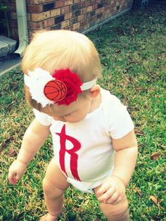 Houston Rockets Headband. $8.00, via Etsy.