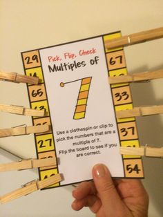 FREE Multiples and Division Pick, Flip and Check Cards. Math Multiplication, Fractions, Math Resources, Math Activities, Learning Tips, Math Numbers, Real Numbers, Fourth Grade Math, Math Intervention