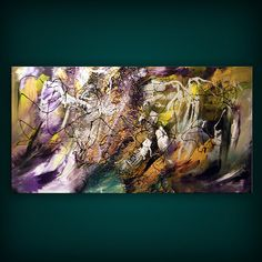 art painting abstract original acrylic  48 x 24 by mattsart,