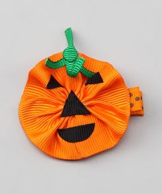 Pumpkin Hair Clip... could I make one for my daughter?
