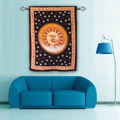 Buy Gorgeous Sun moon wall hanging tapestry to give unique look to your home . Shop Now @Handicrunch
