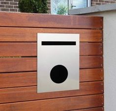 Choose Milkcan For premium designer fence mounted letterboxes in Australia Our fence mounted letterboxes are suitable for both fence and wall mounting Fire Pits For Sale, Timber Panelling, Black Fence, Address Plaque, Mailbox, Backyard, Fence Ideas, Gift Certificates, House Styles