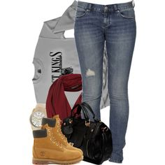 Casual laid back outfit. Always loving the timberlands! Tims Outfits, Cute Swag Outfits, Dope Outfits, Fall Outfits, Casual Outfits, Mode Timberland, Timberland Boots Outfit, Timberlands, Laid Back Outfits