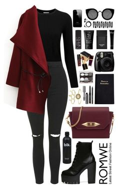 """""""Romwe 8"""" by scarlett-morwenna ❤ liked on Polyvore featuring Pure Collection, Topshop, Rebecca Minkoff, Leathersmith, Bobbi Brown Cosmetics, Nude by Nature, Tom Ford, Quay, NARS Cosmetics and Sennheiser"""