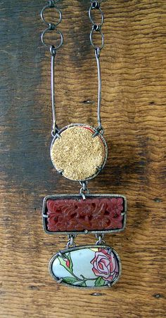 floral3 pendant necklace hanging by Maria Whetman | Flickr - Photo Sharing!