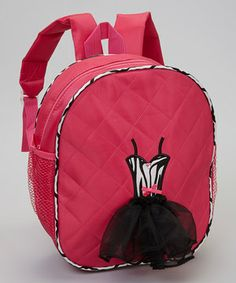 Every graceful little ballerina needs a backpack to carry along to rehearsal. This bag features a design that's ready for center stage—plus, it sports plenty of room for a snack, water bottle, toe shoes and other dance essentials.