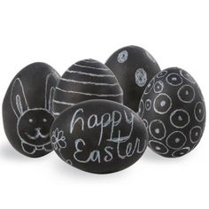 Parenting.com | 11 Fun Easter Crafts for Kids...these chalkboard eggs and the clothespin bunnies look easy enough to do. What primer would you use on the plastic Easter eggs to get chalkboard paint to adhere to them??