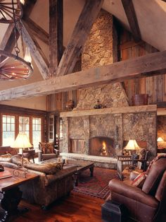 by Lynne Barton Bier - Home on the Range Interiors, Western Homestead Ranch Living Room