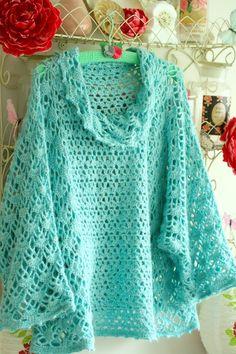Crochet Poncho + Diagrams + Free Pattern