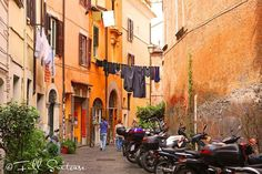 Charming old streets of Trastevere in Rome
