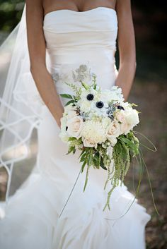 Gorgeous white bouquet by Kristen Weaver Photography