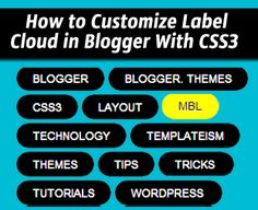 How To Customize Label Cloud in Blogger With CSS3 Effects ~ My Blogger Lab