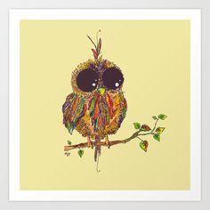 Owl Art Print by Aubree Eisenwinter - $17.68