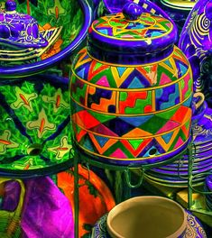 Mexican decor: ceramics- photography by Anthony George.