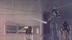 Incredible illustrations by artist Ralph McQuarrie. Not a trap.