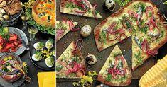 Bjud på en härlig påskbuffé – 10 läckra recept   Land.se Vegetable Pizza, Vegetables, Food, Meal, Vegetable Recipes, Hoods, Veggies, Eten, Meals
