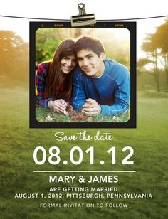 Photoshoot Clipping - Save the Date Postcards - Chewing the Cud - Olive - Green : Front