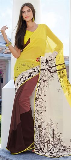 140317: Awesome #Prints - dry forest tree branches for the #safari look. shop this #saree #forest #travel #trends2014