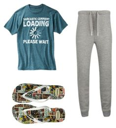 Pijama 2 - Loser Like Me by wishmemuke on Polyvore featuring T By Alexander Wang and Havaianas