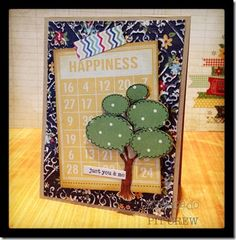 Kimberly Crawford created this super happy card design using the tree image. Simply fun.