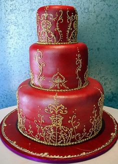 Indian/Moroccan theme cake